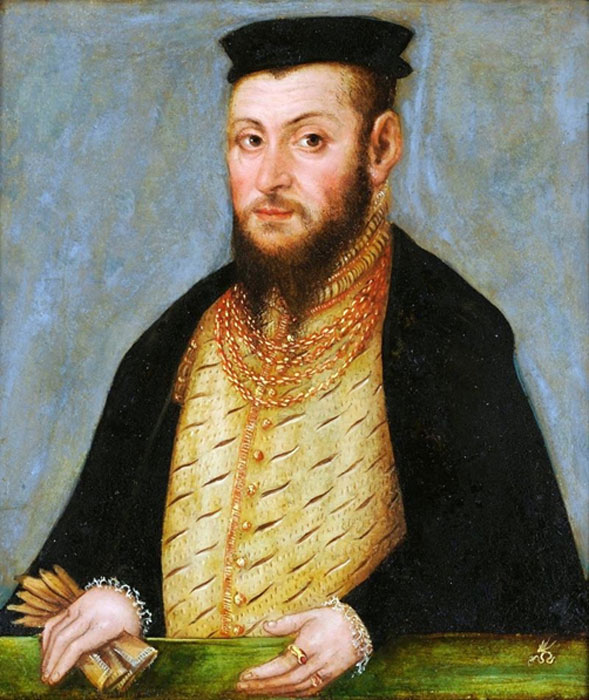 Sigismund II Augustus. Painting by Lucas Cranach the Younger.