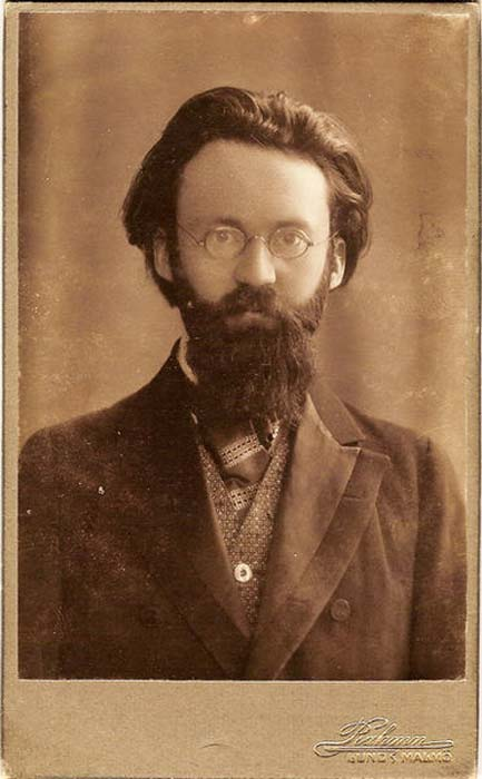 Sigurd Agrell (1881-1937), Swedish poet, runologist and professor in Slavic languages at Lund University, Sweden.