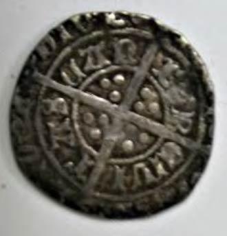 A medieval era silver coin.