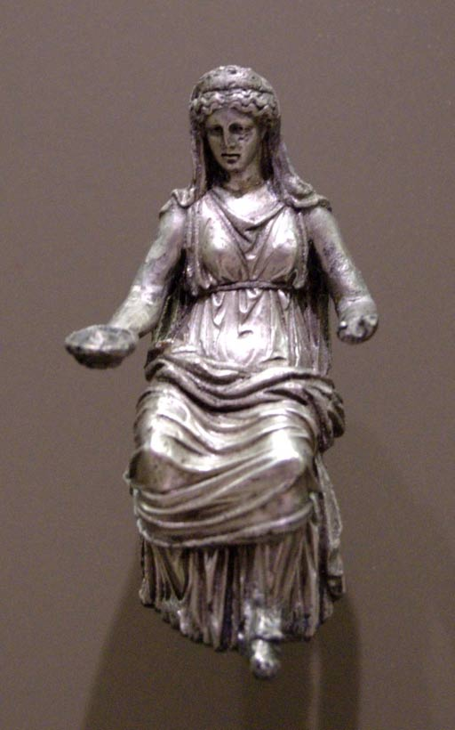 Silver statuette of Juno. First to second century.
