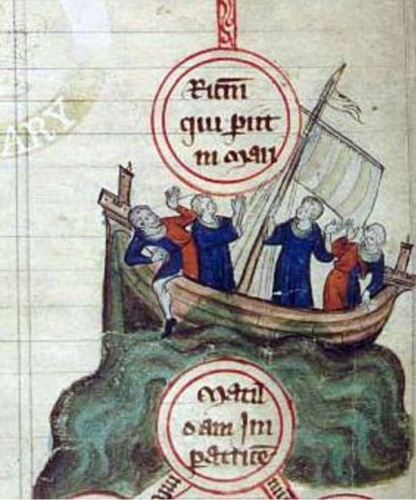 The Sinking of the White Ship in the English Channel near the Normandy coast, 1120 AD.