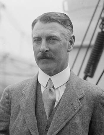 Sir Cecil Chubb in May 1926 on board RMS Aquitania.