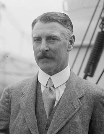 Sir Cecil Chubb in May 1926 on board RMS Aquitania.