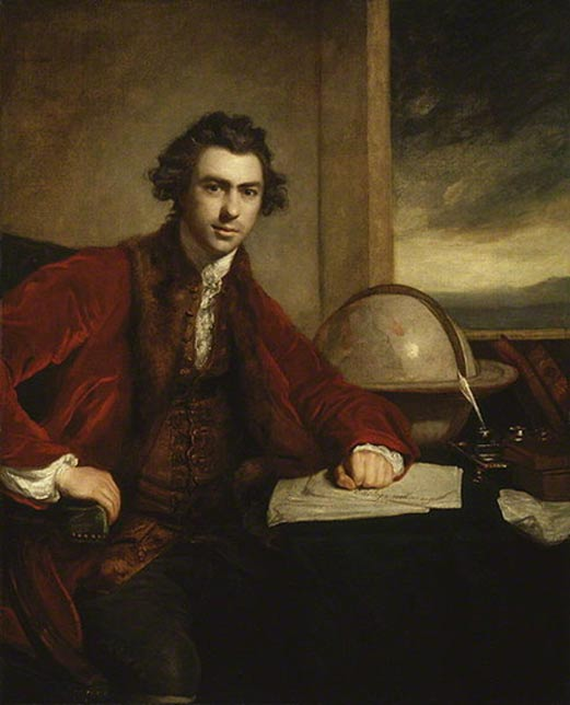 Sir Joseph Banks, as painted by Sir Joshua Reynolds in 1773.