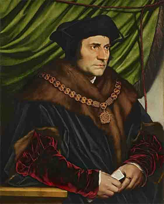 Did Sir Thomas More discover the truth? Portrait by Hans Holbein. (Public Domain)