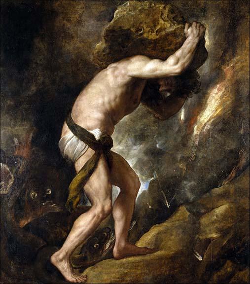 'Sisyphus' by Titian.