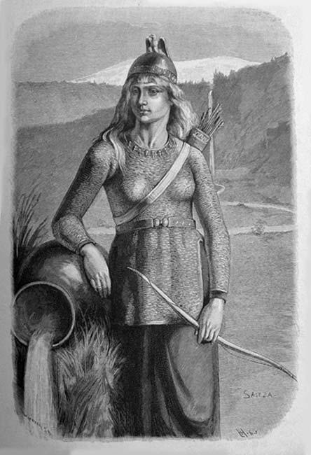 Skade (1893) by Carl Fredrik von Saltza