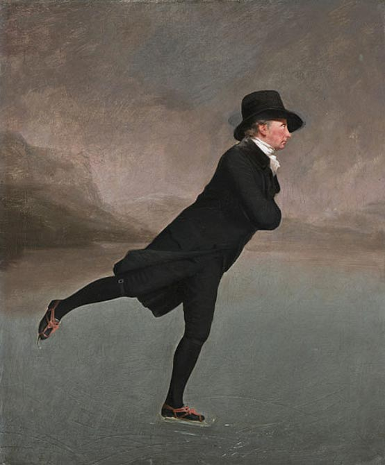 The Skating Minister (1790s) by Henry Raeburn. Scottish National Gallery, Edinburgh, Scotland.