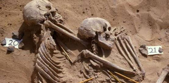 Skeletons from Jebel Sahaba