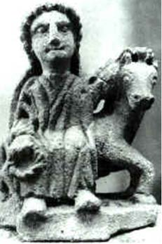 Small Epona sculpture from Auxois, France.