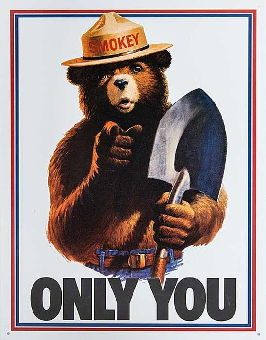 Smokey the bear. (Public Domain)