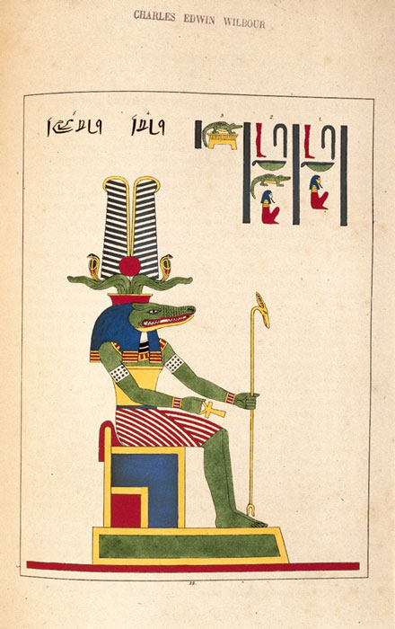 Sobek is sometimes represented as a crocodile.  (Kaitlyn153 / Public Domain)