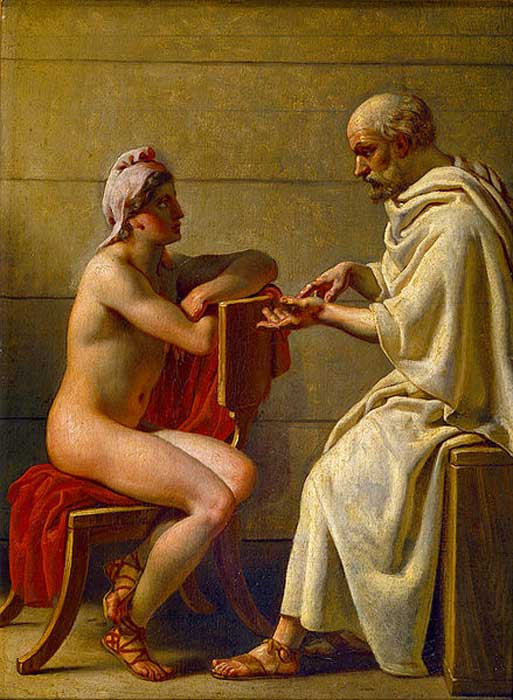 Socrates and Alcibiades by Christoffer Wilhelm Eckersberg