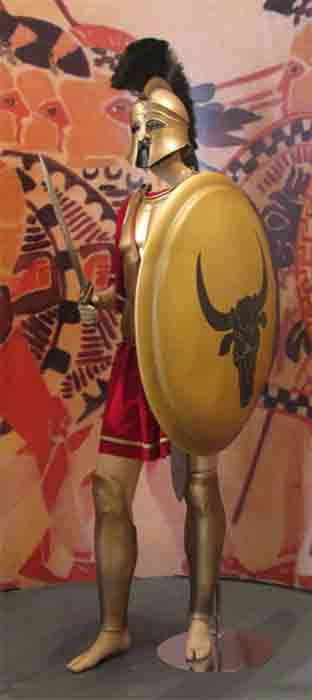 The soldier who wore the Corinthian helmet during the Greco-Persian wars would have been dressed for battle like this. (Tilemahos Efthimiadis / CC BY-SA 2.0)