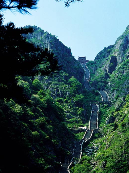 The South Gate to Heaven at Mount Tai.