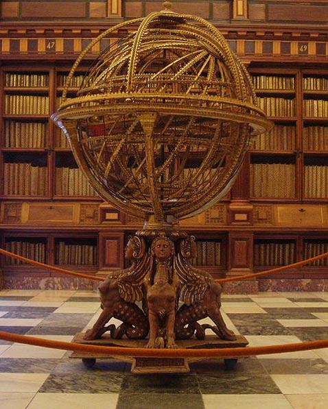 Spanish armillary sphere. (1582) Antonio Santucci. El Escorial Monastery, Madrid, Spain