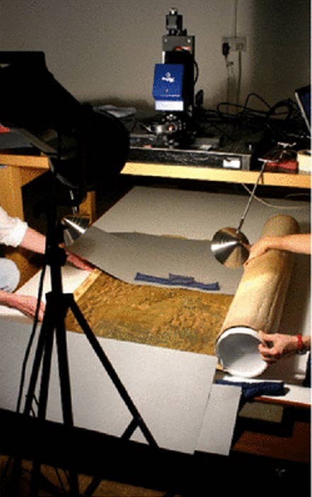 Spectral imaging of the Selden map using PRISMS at the Bodleian Library.