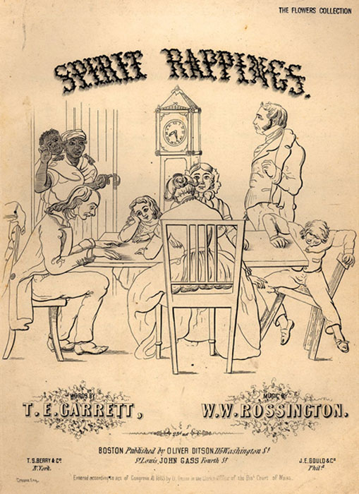 An 1853 song titled 'Spirit Rappings' sought to capitalize on the growing popularity of Spiritualism in the 19th century. (Ras67 / Public Domain)