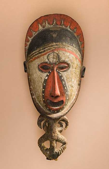 Spirit figure from Papua New Guinea, East Sepik Province, Southern Abelam or Boiken People, circa 1925. (Public Domain)