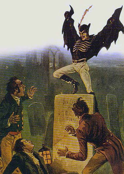 Spring Heeled Jack as depicted by anonymous artist