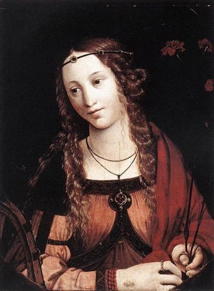 St Catherine of Alexandria.
