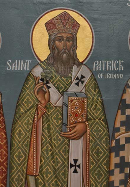 An icon of St. Patrick.