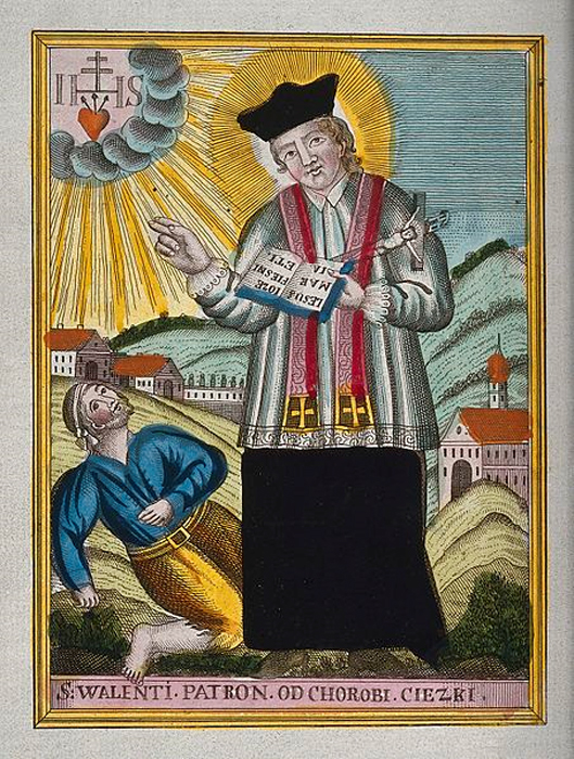 St. Valentine blessing an epileptic. (Wellcome Images/ CC BY 4.0)