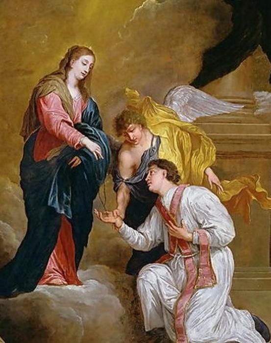 St. Valentine kneeling. David Teniers III (Public Domain)