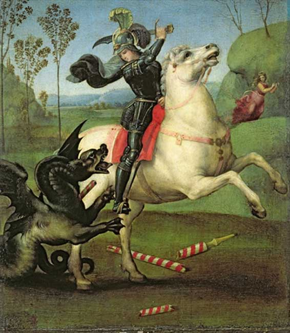 St. George Struggling with the Dragon