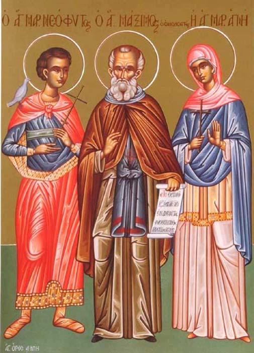 St. Neophytus, Maximus the Confessor, & Agnes.