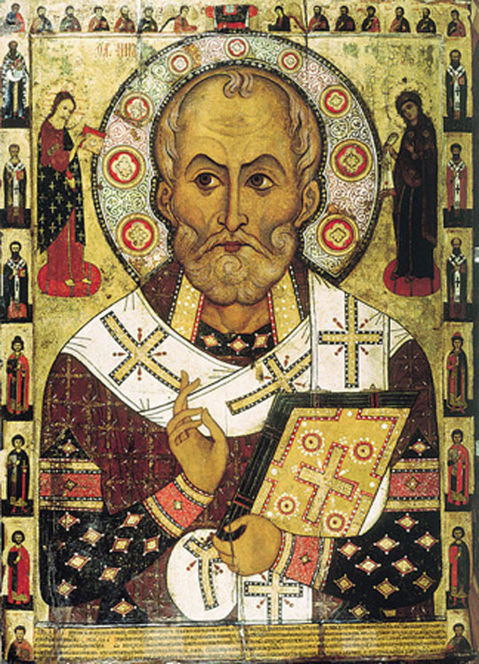 "St. Nicholas ""Lipensky"" (Russian icon from Lipnya Church of St. Nicholas in Novgorod)."