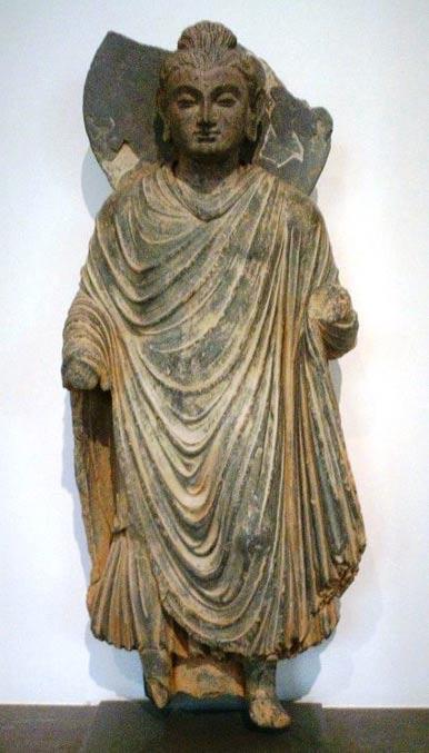 Standing Buddha, Gandhara, 1st century AD.