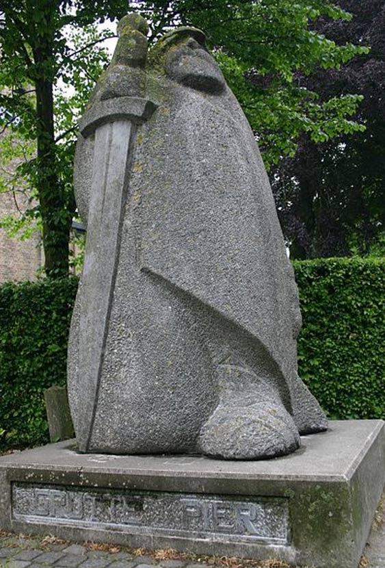 Statue in honor of Grutte Pier in his hometown of Kimswerd.