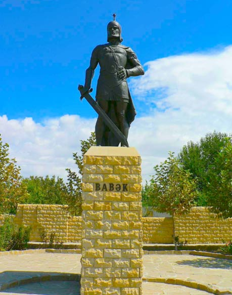 Statue of Babak Khorramdin from Southern Azerbaijan