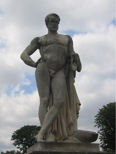 Statue of Cincinnatus by Denis Foyatier, in the Tuileries Garden, Paris.