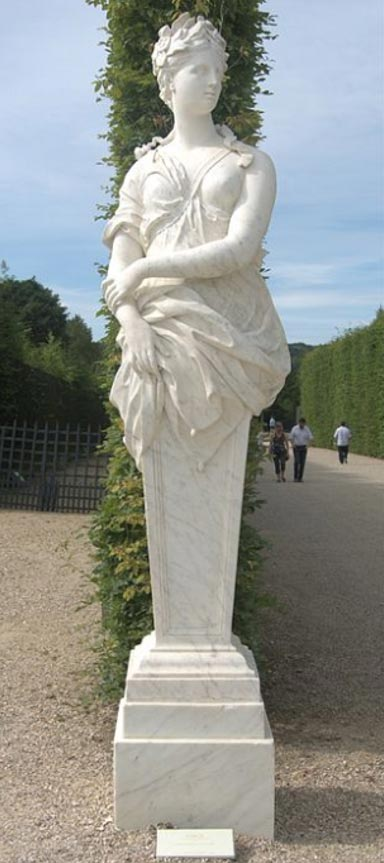 Statue of Circe at Versailles.