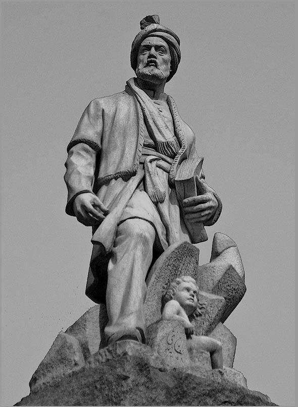 Statue of Ferdowsi in Tehran, Iran