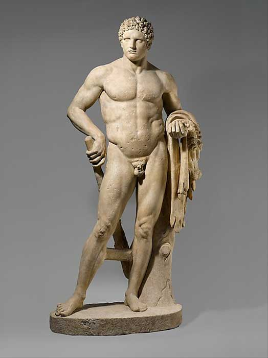 Could the Statue of Hercules in Amman looked like this statue of Hercules currently housed in the Met Museum?