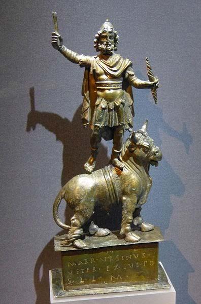 Statue of Iupiter Dolichenus standing on a bull. Kunsthistorisches Museum