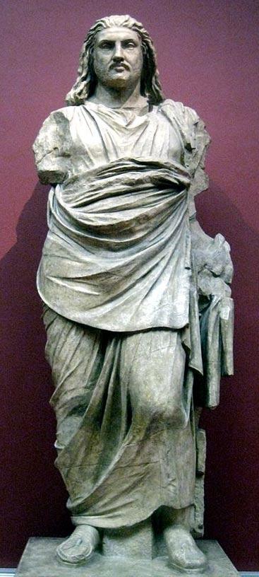 Statue of Mausolus at the British Museum, 2012.