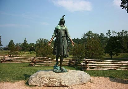 Statue of 'Pocahontas' in Historic Jamestowne