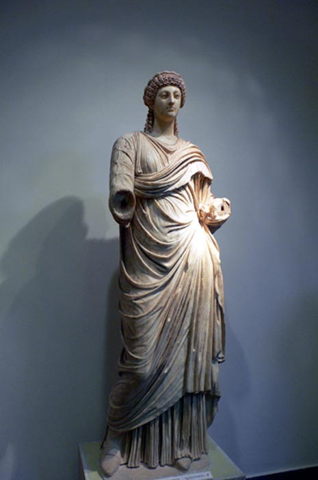 Statue of Poppaea in the Archaeological Museum of Olympia (Greece)