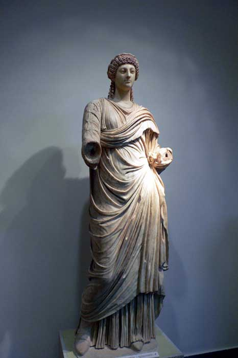 Statue of Poppaea in the Archaeological Museum of Olympia (Greece).