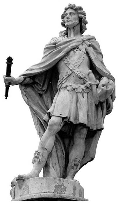 Statue of Rechiar, Suebic King of Galicia (sculpted 1750–1753), Royal Palace of Madrid, Spain. (Basilio/CC BY SA 3.0)