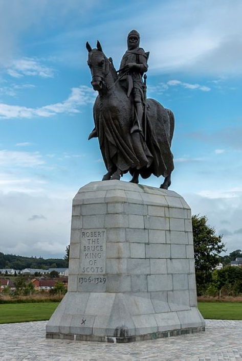 Statue of Robert the Bruce at the monument for the Battle of Bannockburn in Bannockburn. (CC BY-SA 3.0)