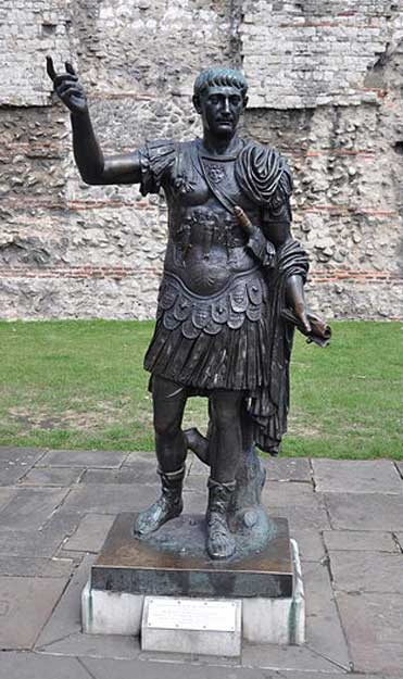Statue of Roman Emperor Trajan at Tower Hill, London
