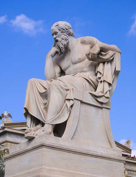 The Statue of Socrates at the Academy of Athens. Work of Leonidas Drosis (d. 1880). (C messier/CC BY SA 4.0)