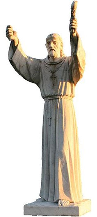 Statue of St. Finnian of Clonard, teacher of the Twelve Apostles of Ireland. (AFBorchert / CC BY-SA 4.0)