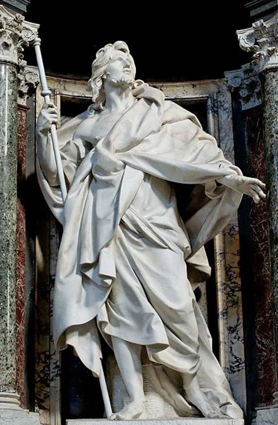 Statue of St. James the Greater in the Archbasilica of St. John Lateran by Camillo Rusconi.