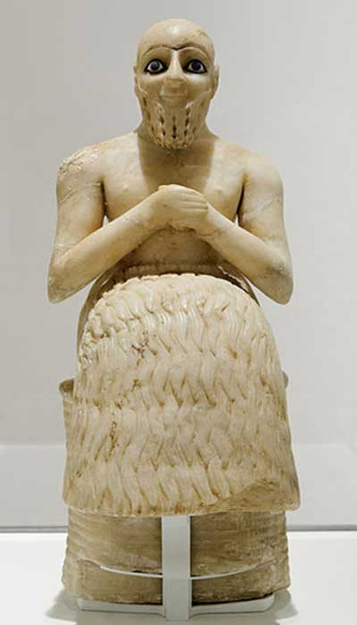 Statue of a Sumerian man, Ebih-Il - intendant, Early Dynastic.